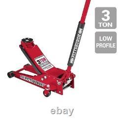 3 Ton Heavy Duty Steel LOW PROFILE Floor Jack Rapid Pump Great For Low-Riders