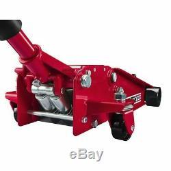3 Ton Heavy Duty Steel LOW PROFILE Floor Jack Rapid Pump Lowrider + FREE GIFT