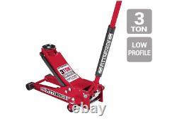 3 Ton Heavy Duty Steel Low Profile Rapid Pump Floor Jack Show Car Low Rider NEW