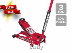 3 Ton Heavy Duty Steel Low Profile lift Pump Floor Jack Show Car Low Rider NEW