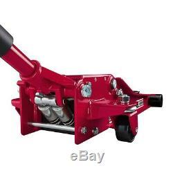 3 Ton Heavy Duty Steel Ultra LOW PROFILE Floor Jack Rapid Pump Dad Gift
