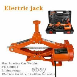 3 Ton Heavy Duty Steel Ultra Low Profile Floor Auto Jack Lifting Scissor Car SUV