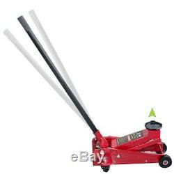 3 Ton Heavy Duty Ultra Low Profile Floor Jack Quick Pump Show Car Lowrider