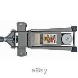 3 Ton Heavy Duty Ultra Low Profile Steel Floor Jack with Rapid Pump Pittsburgh