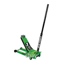 3 Ton LONG REACH Low Profile Steel Heavy Duty Floor Jack With Rapid Pump Lime