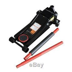 3-Ton Low Profile Floor Jack Heavy Duty Dual Rapid Pump Hydraulic Car Lifter