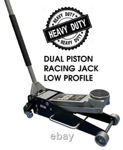 3 Ton Low Profile Lightweight Racing Trolley Jack With Dual Piston Heavy Duty