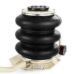 3 Ton Triple Bag Air Jack Pneumatic Jack Quick Lift 6600 LBS Heavy Duty Jacking