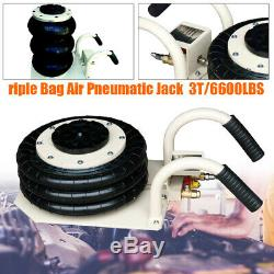 3 Ton Triple Bag Air Jack Pneumatic Jack Quick Lift Heavy Duty Jacking 6600 LBS