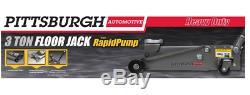 3 ton Steel Heavy Duty Floor Jack Rapid Pump Auto Garage Shop Lift Industrial