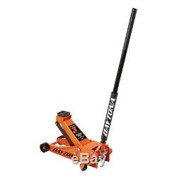3 ton Steel Heavy Duty Floor Jack with Rapid Pump Orange