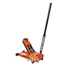 3 ton Steel Heavy Duty Low Profile Floor Jack with Rapid Pump Orange