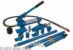 4 Ton 4000kg Hydraulic Heavy Duty Power Car Van Jack Body Part Repair Kit New