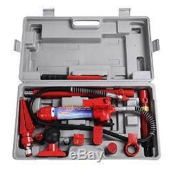 4 Ton Porta Power Hydraulic Jack Body Frame Repair Kit Auto Tool Heavy Duty US