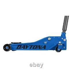 4 Ton Professional Floor Jack Heavy Duty With Rapid Pump Lift Truck Blue NEW
