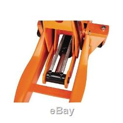 4 Ton Steel Floor Jack with Rapid Pump Heavy Duty Low Profile Trucks Car Orange
