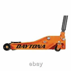 4 ton Steel Heavy Duty Floor Jack with Rapid Pump Orange