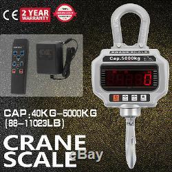 5000KG 1Ton 10,000 LBS Digital Crane Scale Heavy Duty Hanging Scale CA