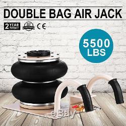 5500lbs Double Bag Air Jack 2.5 Ton Lift Jack Pneumatic Air Jack 2.5T