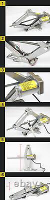 5 Ton 12V Electric Car Hydraulic Jack Adjustable Scissor Lift Jack Lifting Tool