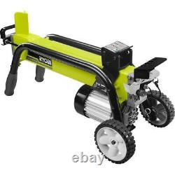 5-Ton 13 Amp Electric Log Splitter Heavy Duty 2 Hand Operation Portable Wheels