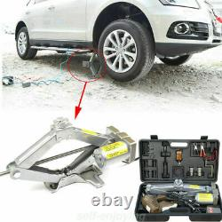 5 Ton Car Jack Lift 12V Auto Electric Hydraulic Floor Vehicle Tire Repaired USED