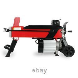 5 Ton Heavy Duty Electric Log Splitter Horizontal Hydraulic Wood Cutter EU Stock