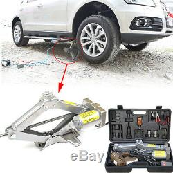 5 Tons 12V Automatic Electric Car Jack Scissor Lift Garage Vehicle Tire Repaired