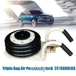 6600LBS 3 Ton Triple Bag Air Jack Lifting Jack Pneumatic Jack Heavy Duty Jacking