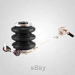 6600LBS Triple Bag Air Jack Pneumatic Jack Lifting Jack Stands Adjustable 3 Ton