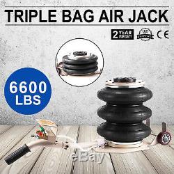 6600lbs Triple Bag Air Jack 3 Ton Air Jack Pneumatic Air Bag Jack Max 15.75'