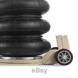 6600lbs Triple Bag Air Jack 3 Ton Lift Jack Pneumatic Jack Air Bag Jack 15.75
