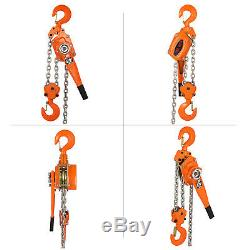 6Ton 20Ft Ratcheting Lever Block Chain Hoist Heavy Duty Efficient 13000LBS