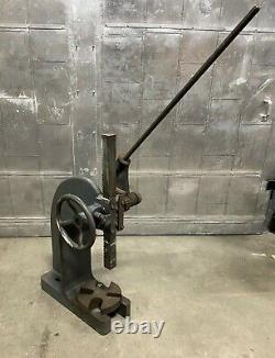 6 Ton Famco Model 4R Ratchet Arbor Press Heavy Duty Made in USA