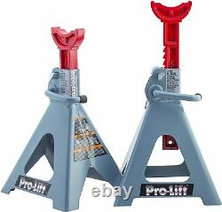 6 Ton Jack Stands Set of 2 Heavy Duty Steel Auto Self Locking Ratchet Paw 1 Pack