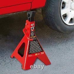 6 Ton Jack Stands Set of 2 Heavy Duty Steel Auto Self Locking Ratchet Pawl ANSI