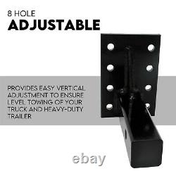 8 Ton Ball Combo Pintle Hook Tow Hitch Towing Heavy Duty 4WD Truck Trailer TCD