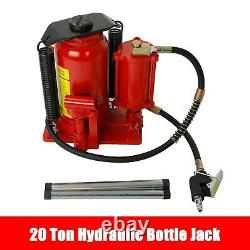 Air Hydraulic Bottle Jack 20 Ton Manual 44092lb Heavy Duty Auto Truck RV Repair