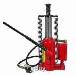 Air Hydraulic Ture 20 Ton Bottle Jack Jacks Automotive Lift Tools Heavy Duty