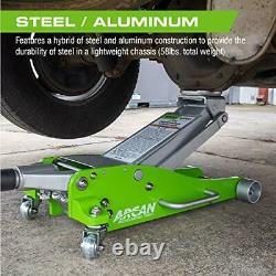 Arcan 3 Ton Hybrid Heavy Duty Aluminum and Steel Low Profile Floor Jack HJ300