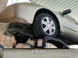 Auto Car Ramps Light Truck Solid Steel 1 Ton 6500 LBS Pair Set Heavy Duty Ramp