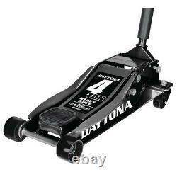 BLACK Floor car/truck Jack 4 Ton Heavy Duty Rapid Pump Daytona Automotive