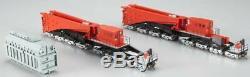 Bachmann 80503 Spectrum Red/Black 380-Ton Schnabel 16-Truck Heavy-Duty Car