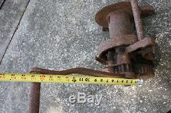 Beebe Bros. All Steel 2 Ton Hand Crank Winch. Heavy Duty