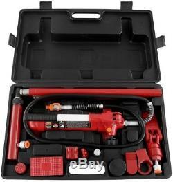 Big Red 4-Ton Heavy Duty Hydraulic Ram Porta Power Tool Kit With Carry Case
