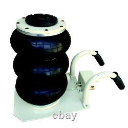 Black 6600lbs Pneumatic Jack Triple Bag Air Jack 3 Ton Lift Jack Heavy Duty USA