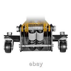CAT 3 Ton Low Profile Service Jack, Heavy-duty, Built-in Foot Pump