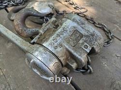 CM Puller Hoist Model B 3 Ton 10' Foot Chain USA Heavy Duty