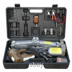Car Electric Jack Hydraulic Floor 12V 5 Ton Auto Lift Scissor Jack Repair Tool