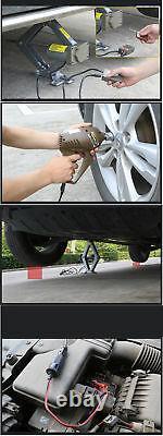 Car Jack Lift 12V 5Ton Electric Hydraulic Floor Jack Tire Inflator Pump Tool Kit